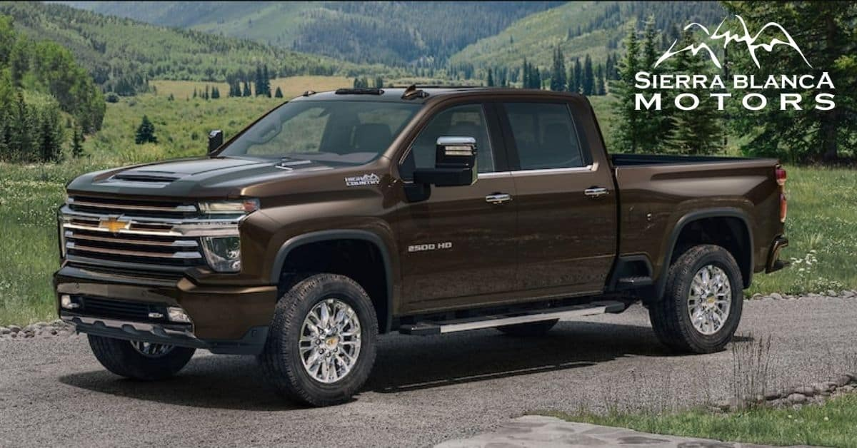 2021 Chevrolet Silverado 2500 With Pine Trees In Background