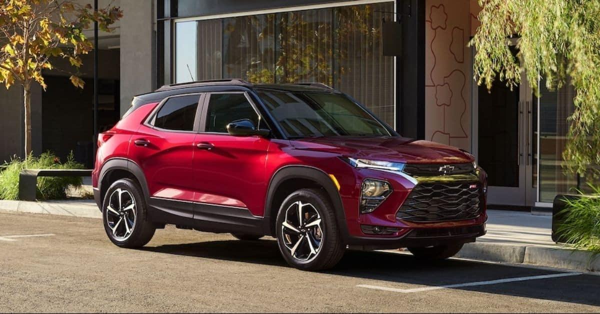 Red 2021 Chevrolet Trailblazer Parked