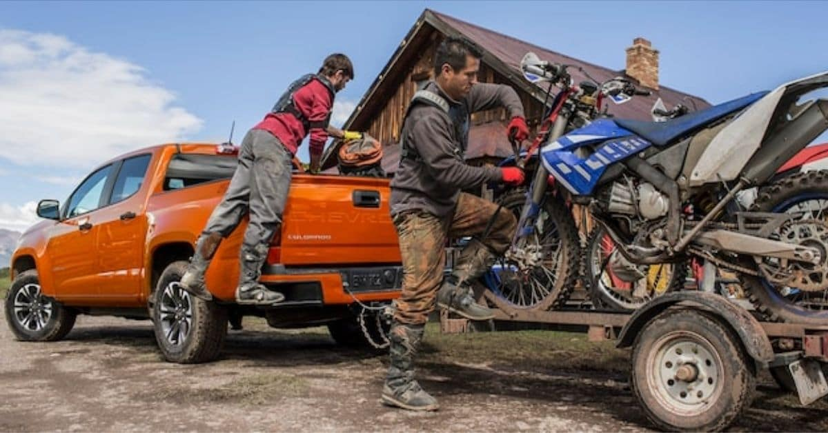 2021 Chevrolet Colorado Towing Dirt Bikes