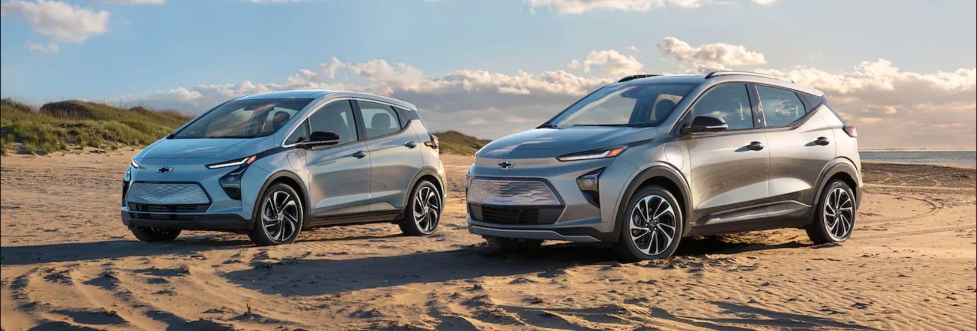 2022 Chevrolet Bolt On The Beach With Sand