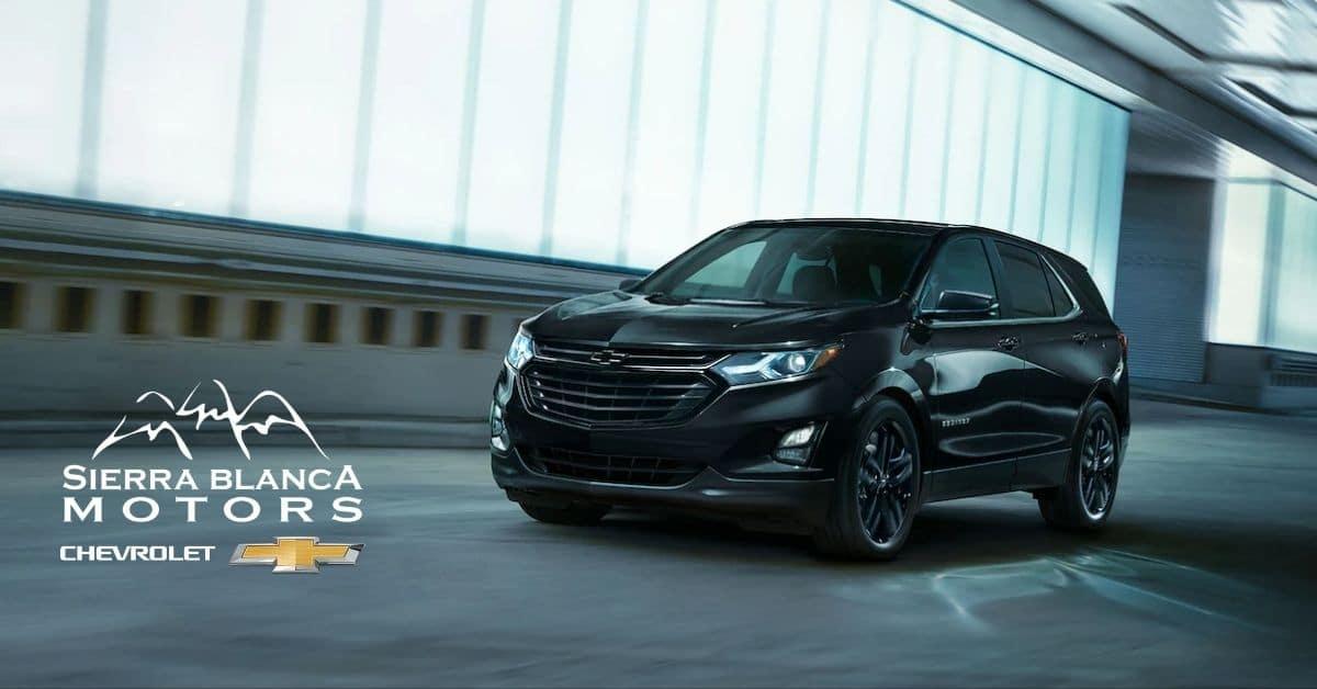 Black 2021 Chevrolet Equinox Driving - Sierra Blanca Motors
