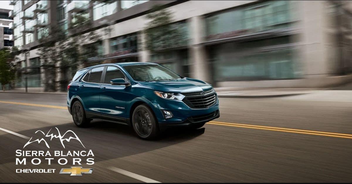 Blue 2021 Chevrolet Equinox Driving