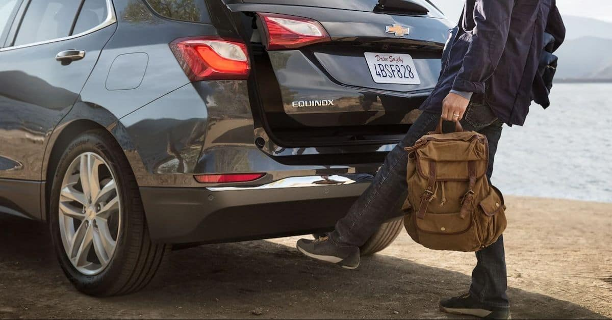 Man Opening A 2021 Chevrolet Equinox Hatch With Foot Sensor