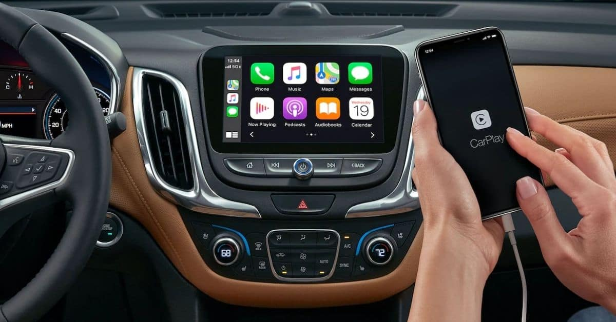 Phone Connected To A 2021 Chevrolet Equinox's Infotainment System