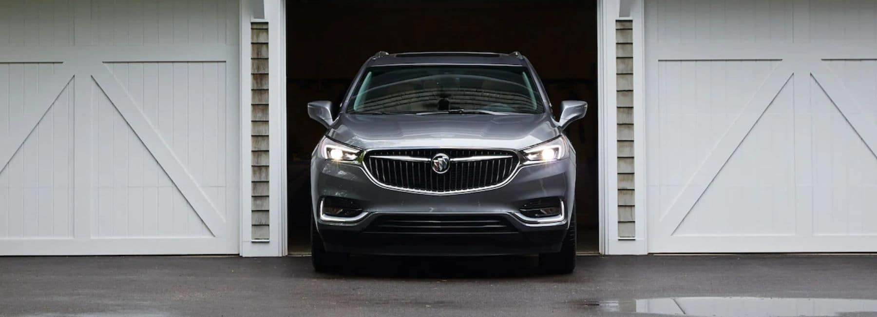 Front View of 2020 Buick Enclave in the Middle Door of A Three Car Garage | Buick Dealer Near Carlsbad, NM