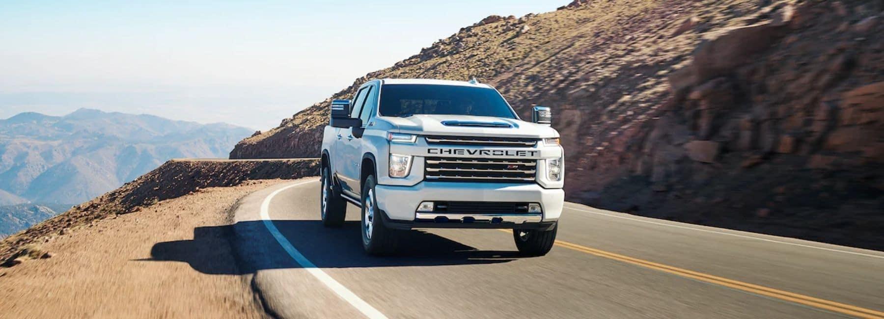 White 2022 Chevrolet Silverado 2500 With Mountain Background