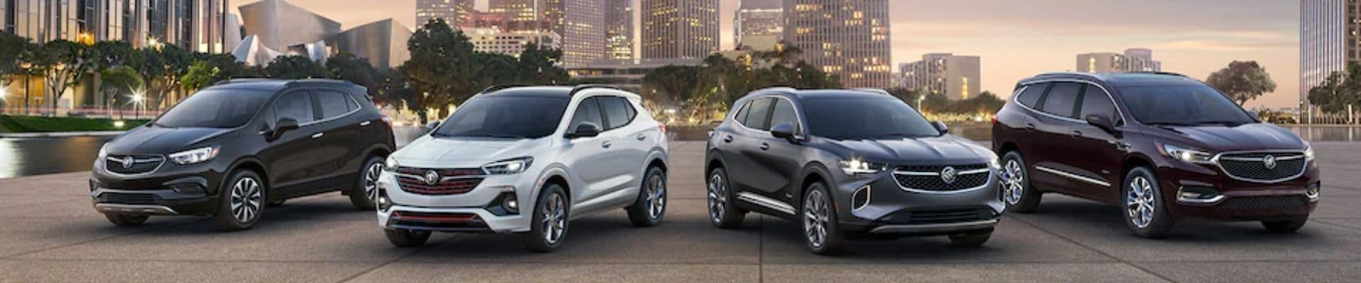 2021 Buick Lineup With City Background