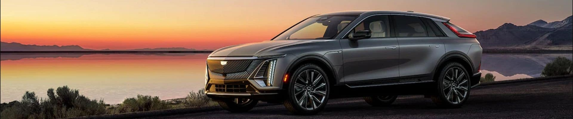 2023 Cadillac Lyriq With Sunset and Water Background