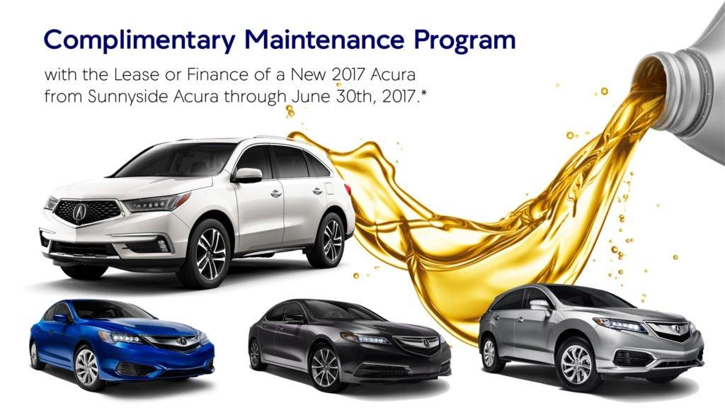 Complimentary Maintenance Program with Sunnyside Acura Nashua NH
