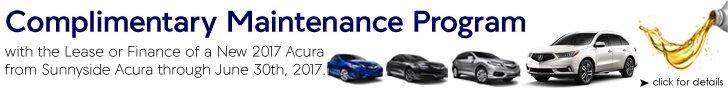 Sunnyside Acura Complimentary Maintenance Program