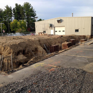 September 22, 2015 - Getting ready to set the wall forms for the Sunnyside Acura service department.