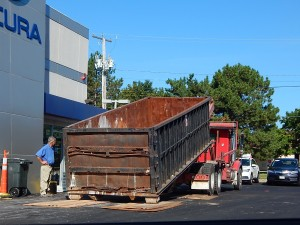 August 5, 2016 – Arrival of dumpster number...? Sunnyside Acura Nashua, NH