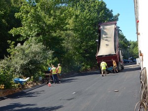 July 26, 2016 – Asphalt by the truckload! Sunnyside Acura Nashua, NH