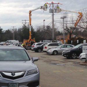 New transformer being installed at Sunnyside Acura in Nashua, NH