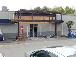 It took a lot of steel to create the former entry to our service department. — at Sunnyside Acura of Nashua NH.