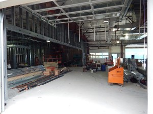 Looking into the new service drive. Clients will pull into the building. Service advisors will be ready and waiting on the left side. — at Sunnyside Acura of Nashua NH.