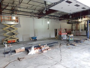 Inside the Accelerated Service area. Once complete it will feature LED lighting and look more like a Doctor's office than a service bay. — at Sunnyside Acura of Nashua NH.
