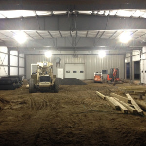 November 19, 2015 - On the inside of the Service Department Extension, the new vehicle lift pits are being dug.