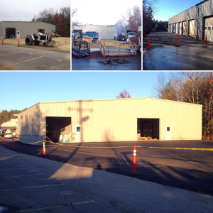 November 20, 2015 - The new Service Department Extension walls have been closed in and the rough-coat paving has been completed!