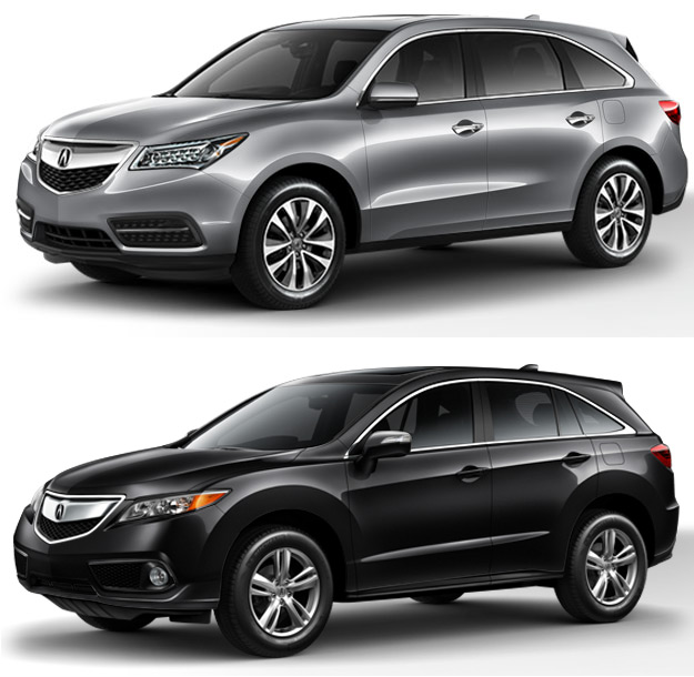 Used Acura MDX Vs. Used Acura RDX