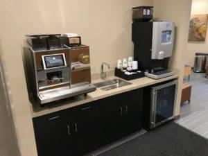 Espresso in the client waiting area at Grand Re-Opening of Sunnyside Acura Nashua NH