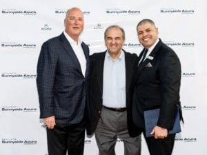 Jim Powers, William Shaheen, Nadi Malek at Grand Re-Opening of Sunnyside Acura Nashua NH