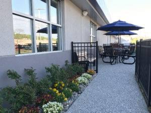 Patio area at Grand Re-Opening of Sunnyside Acura Nashua NH