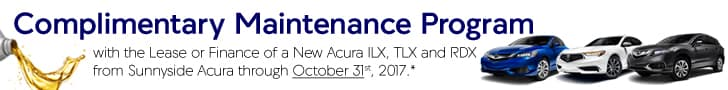 Sunnyside Acura Complimentary Maintenance Program