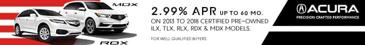 Acura Certified Pre-Owned APR Offer Acura MDX Acura RDX Acura RLX Acura TLX Acura ILX Sunnyside Acura Nashua NH
