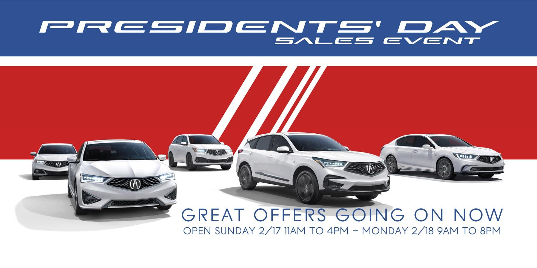 Presidents' Day Sales Event Sunnyside Acura Nashua NH 03063