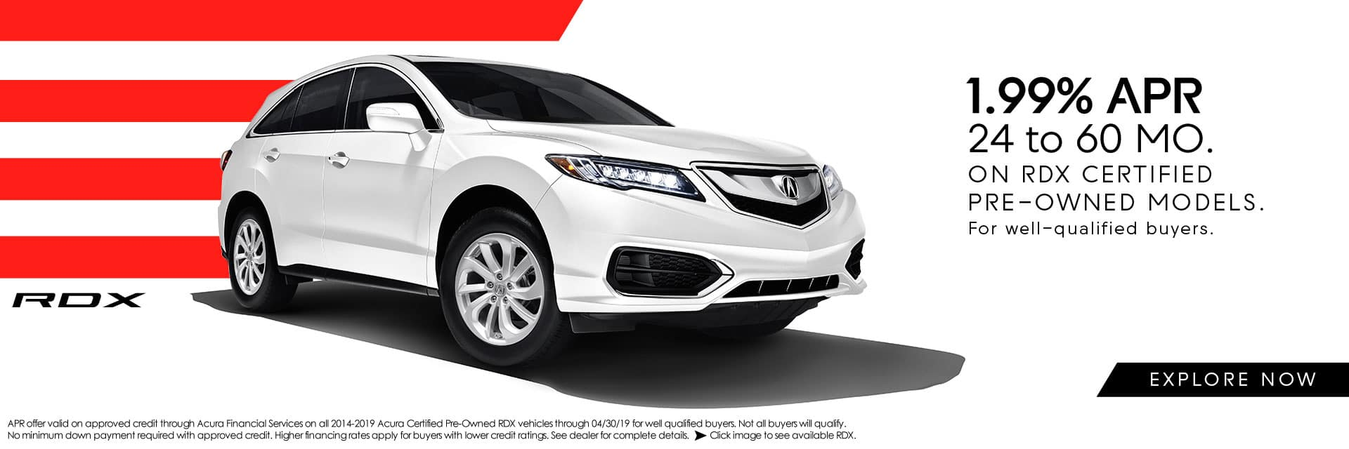 Acura Certified Pre-Owned RDX APR Offer Sunnyside Acura Nashua NH