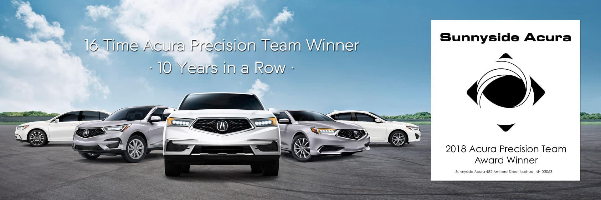 Acura Precision Team Winner Sunnyside Acura Nashua NH