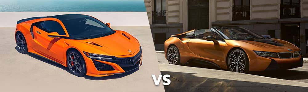 2019 Acura NSX vs. 2019 BMW i8