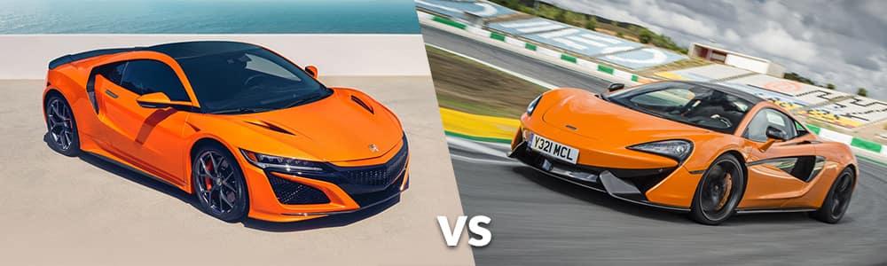 2019 Acura NSX vs. 2019 McLaren 570S