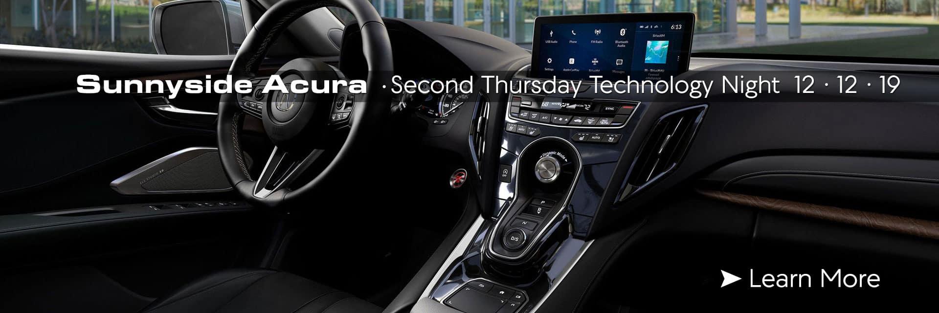 Sunnyside Acura Technology Night December 12 Nashua NH