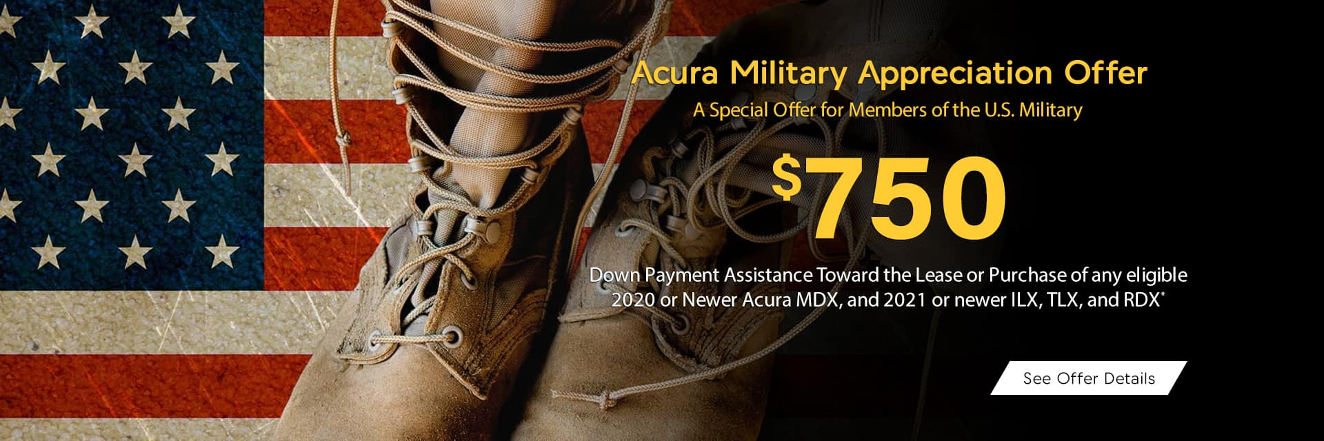 Acura Military Appreciation Offer Sunnyside Acura Nashua NH 03063