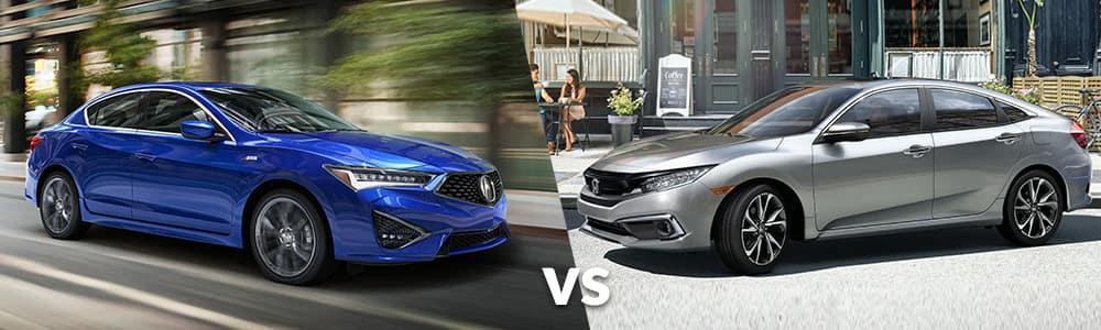 2020 Acura ILX vs. 2020 Honda Civic