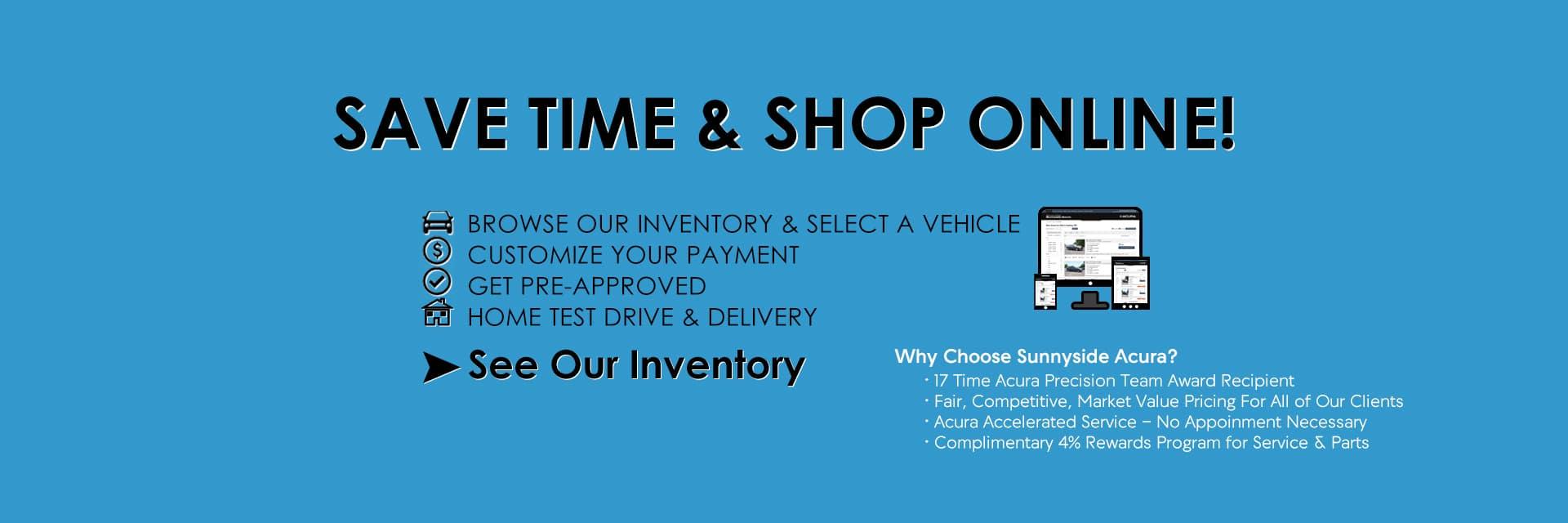 Shop Online at Sunnyside Acura Nashua, NH
