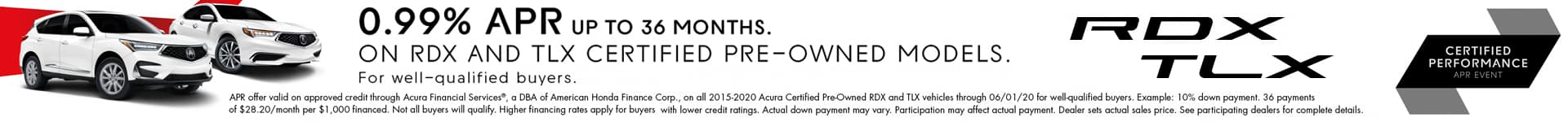 Acura Certified Pre-Owned APR Offer RDX and TLX Sunnyside Acura Nashua NH 03063