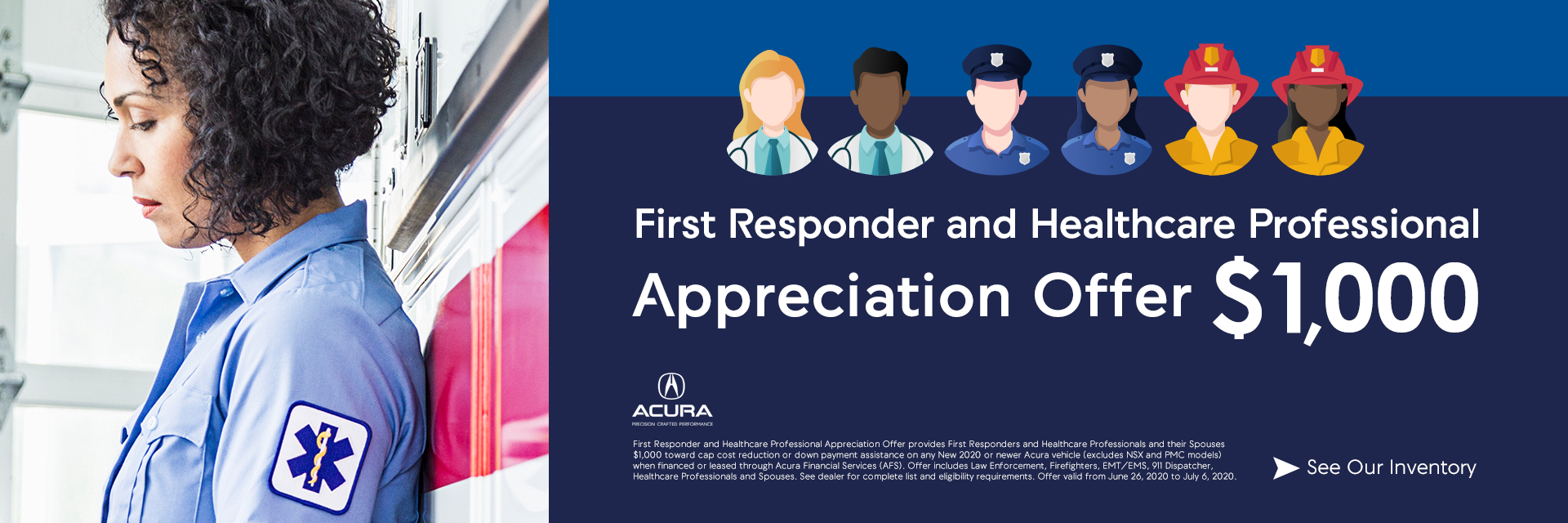 First Responder and Healthcare Professional Appreciation Offer Sunnyside Acura Nashua NH 03063