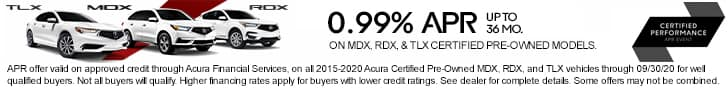 Acura Certified Pre-Owned APR Offer MDX, RDX and TLX Sunnyside Acura Nashua NH 03063