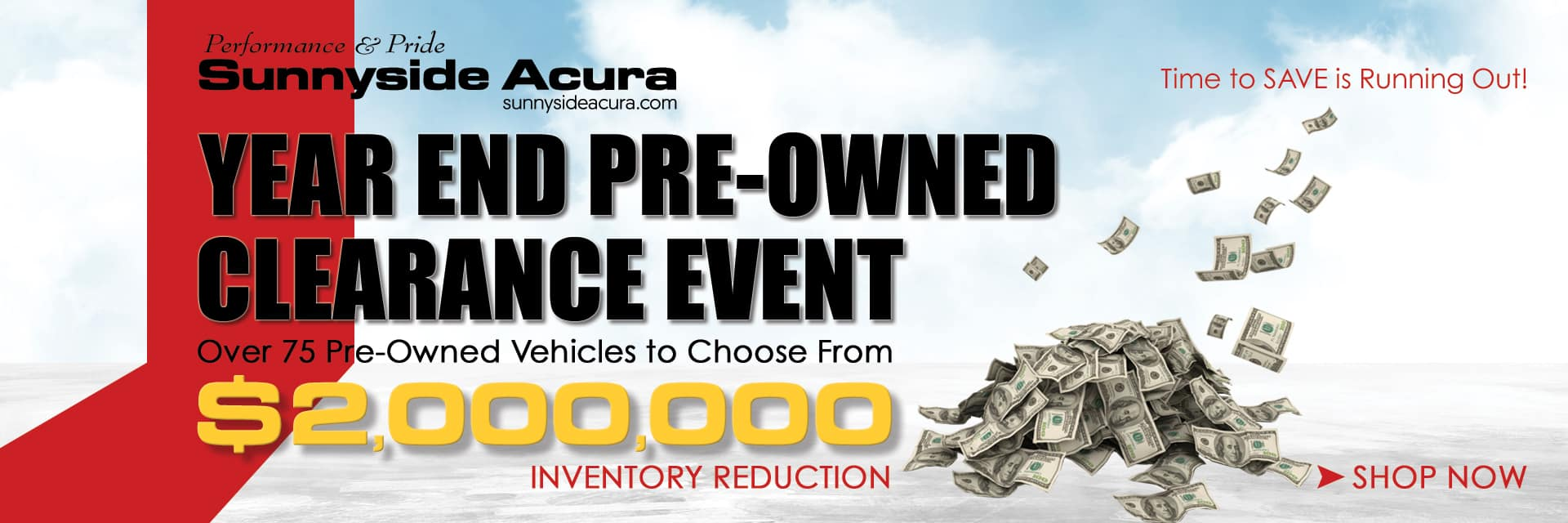 Sunnyside Acura Year End Pre-Owned Clearance Event Nashua NH 03063