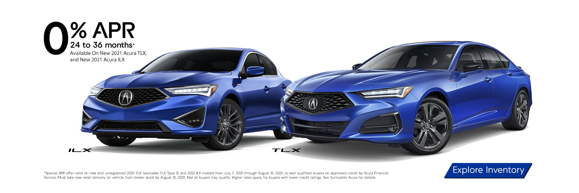2021 Acura TLX 2021 Acura ILX 0% APR for 24 to 36 months at Sunnyside Acura Nashua, NH 03063