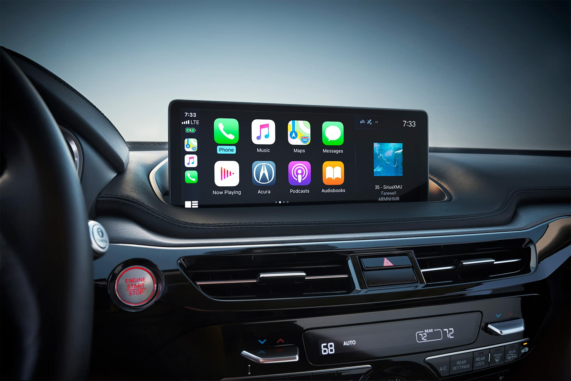 Acura models with Apple Carplay and Android Auto
