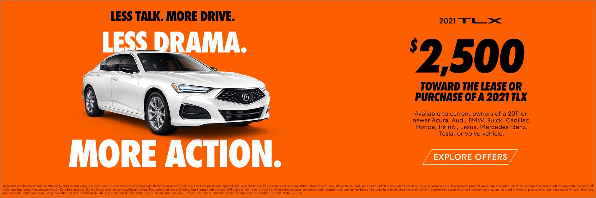 2021 Acura TLX Loyalty or Conquest Offer Sunnyside Acura Nashua NH 03063