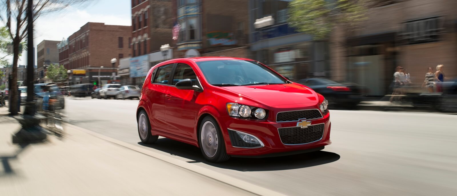 2015 Chevrolet Sonic in red