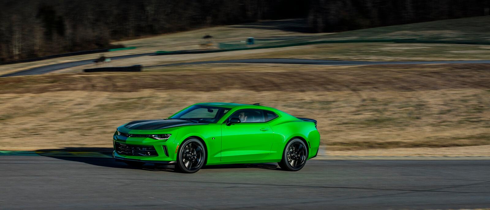 2017 Chevrolet Camaro green exterior