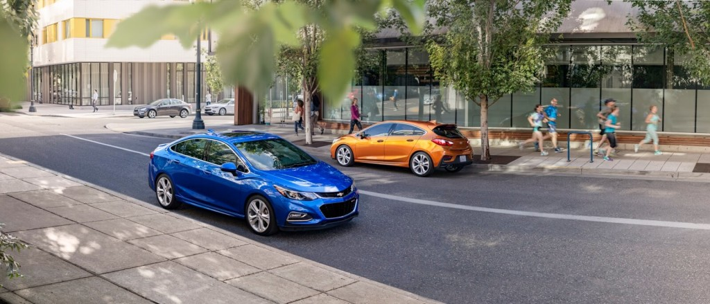 2017 Chevrolet Cruze Sedan blue exterior model parked
