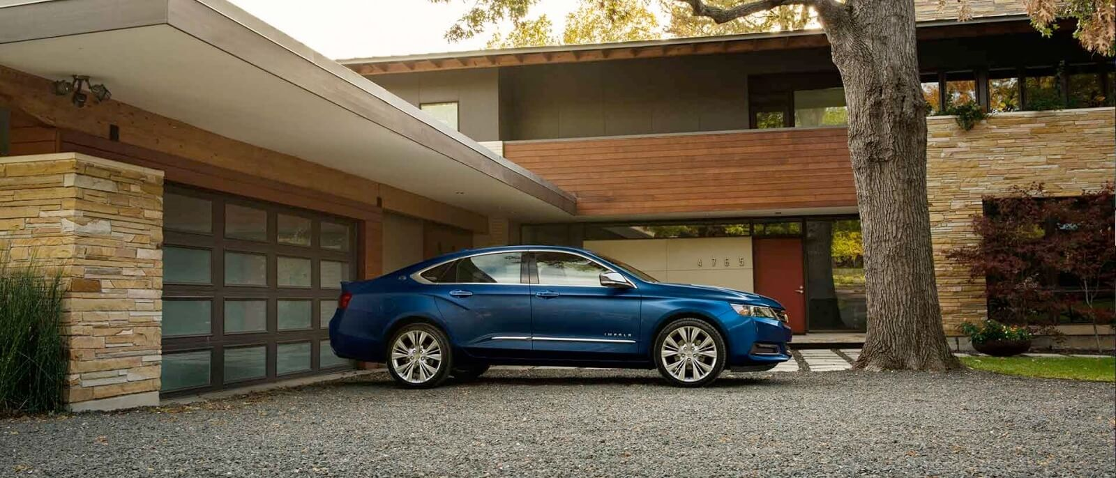 2017 Chevrolet Impala blue exterior side view