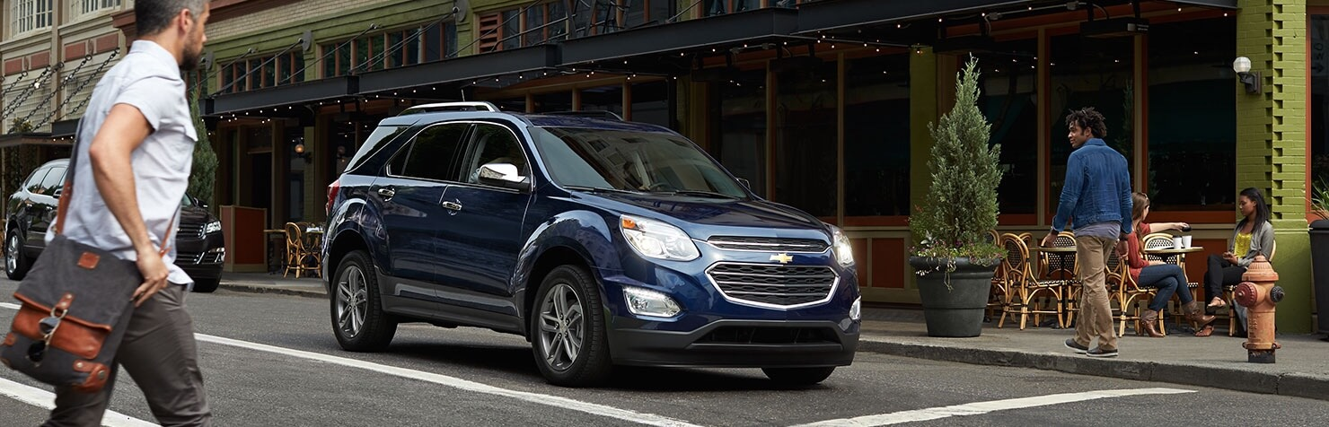 2017 Chevy Equinox blue exterior